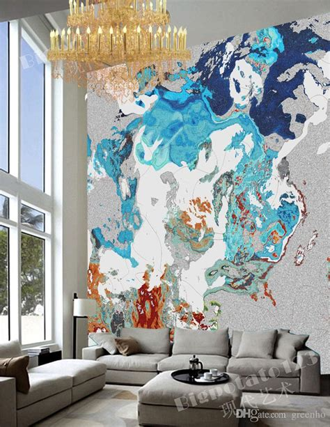 Abstract Wallpaper Room by Abstract Painting Wallpaper Modern Wall Murals Custom