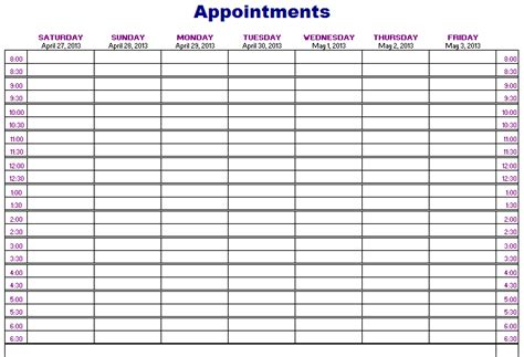 appointments schedule  archives blue layouts
