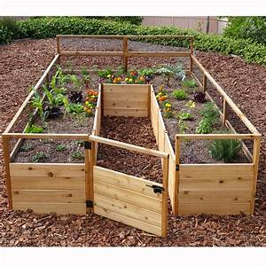 Outdoor living today 839 x 1239 cedar raised garden bed for Raised cedar garden bed