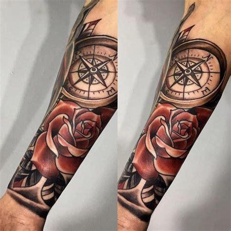 110 Best Compass Tattoo Designs  Wild Tattoo Art