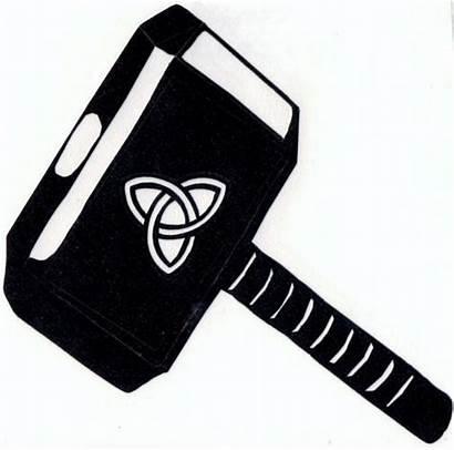 Hammer Thor Stencil Pumpkin Silhouette Google Mjolnir