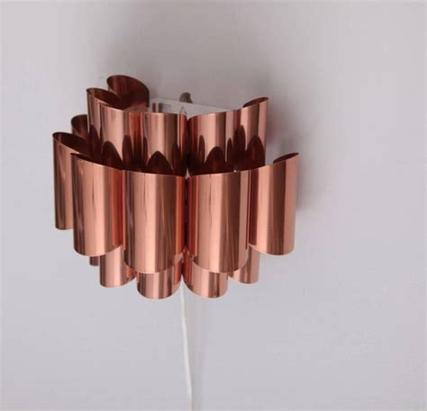 pair of copper sconces of wall lights by verner schou for