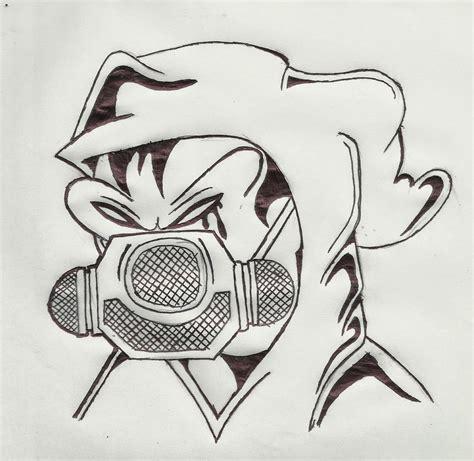 Cmo Dibujar Un Personaje De Graffiti Con Una Mscara De Gas