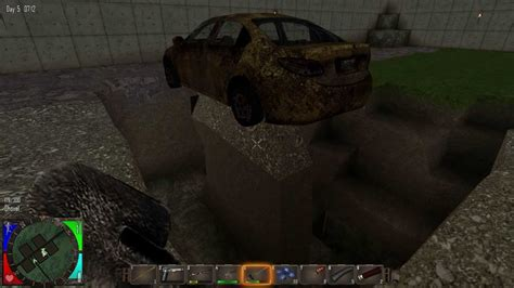 7 Days To Die Burying A Car Youtube