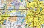 Dallas road map - Map of roads Dallas (Texas - USA)
