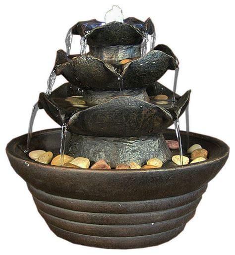 3 tier cascading tabletop fountain withled lights