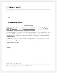 employee character certificates ms word word excel