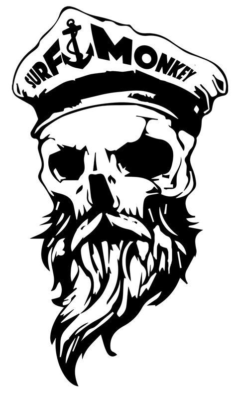 Bearded Skull Decal Sticker Surfmonkey   Freedom   Skull, Skull art, Decals