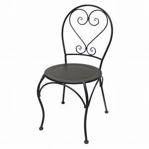 Chaise En Fer Forgé : chaise ronde en fer forge charme achat vente chaise ~ Dode.kayakingforconservation.com Idées de Décoration