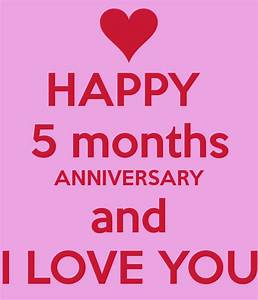 HAPPY 5 months ANNIVERSARY and I LOVE YOU Poster ...