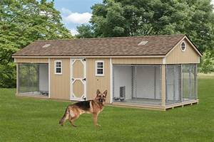 K 9 police 4 dog custom built outdoor kennel house w run for Dog run outdoor kennel house
