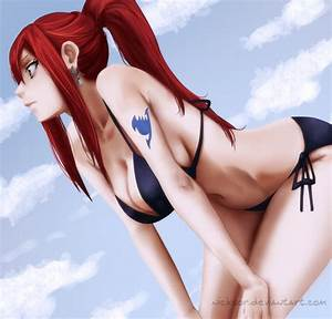 Sexy, hot anime and characters images Erza Scarlet HD ...