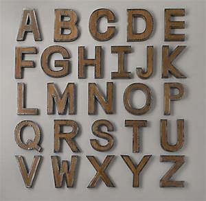 Vintage industrial letter for Industrial alphabet letters