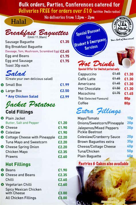 baguette cuisine baguette de cuisine sandwich bar takeaway on evington rd