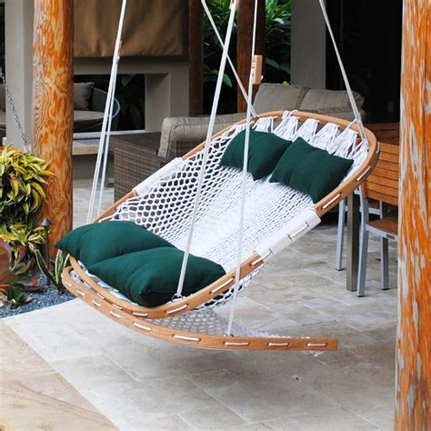 hammock chair swing outdoor swing with footrest