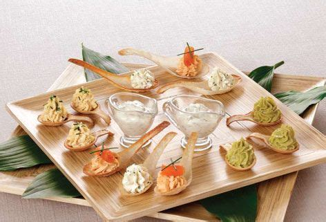 canapes on spoons recipes kosher scoop edible canape spoons rosh hashana