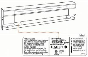 Cadet Baseboard Heater Thermostat Wiring