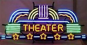 Neon Theater Marquee Sign Stargate Cinema