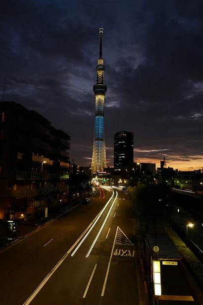Night Street Road Wallpapers Tower Background Mobile