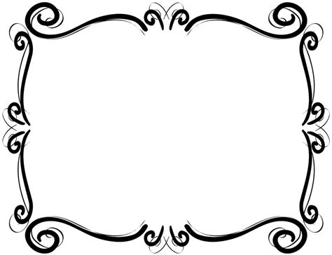 Scroll Border Frame Free Clip Art
