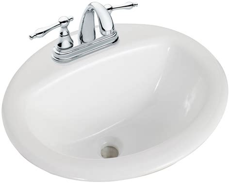 glacier bay bathroom sinks glacier bay round drop in bathroom sink in white the