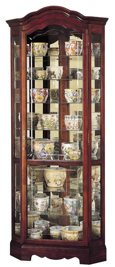howard miller 680249 jamestown corner curio cabinet the