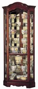 Halogen Light Clips Howard Miller 680 249 Jamestown Corner Curio Cabinet The
