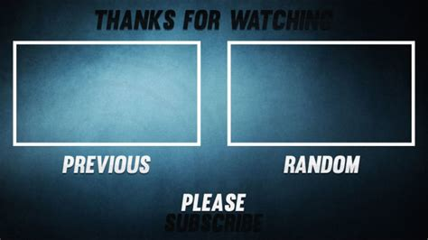 outro template create a professional outro template by berkthetics