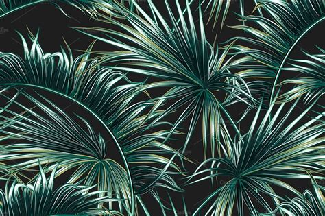 Palm Background Tropical Palm Leaves Pattern Graphic Patterns Creative