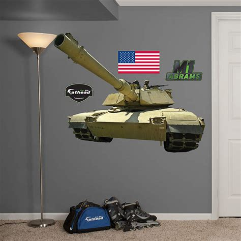 Abrams Top Speed by M1 Abrams Tank Wall Decal Shop Fathead 174 For Vehicles Decor