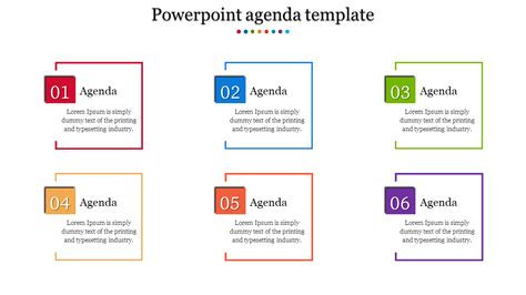 colorful powerpoint agenda templates slideegg