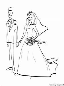 Bride And Groom Coloring Page Coloring Pages