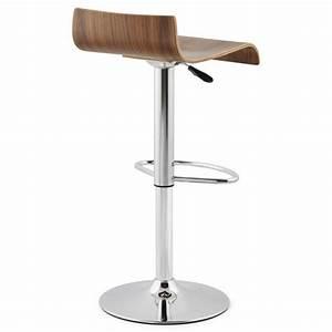 Tabouret Bois Design : tabouret de bar design rome en bois walnut ~ Teatrodelosmanantiales.com Idées de Décoration