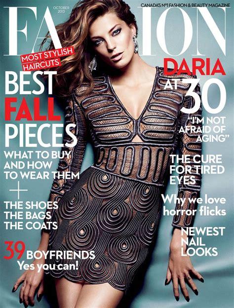 Daria Werbowy Shines on Fashion Canada's October 2013 ...