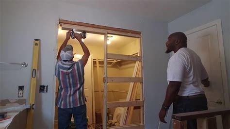 installing  pocket door frame youtube
