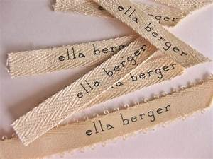 Paper ink diy fabric label name tags for How to sew labels on clothes