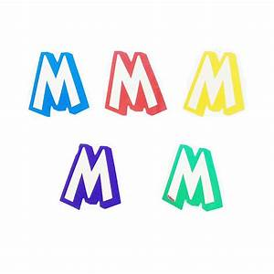 magicballoons letter m sticker With letter m stickers