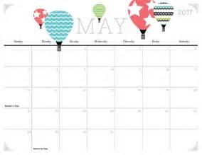 Cute May 2017 Calendar Printable Org