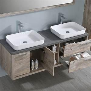 Meuble Salle De Bain 150 : meuble salle de bain pla a 150 cm d 39 inspiration nordique ~ Teatrodelosmanantiales.com Idées de Décoration