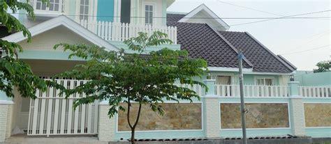 desain pagar terbaru pagar rumah tembok batu alam