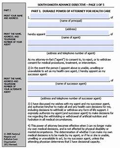 free printable living will template - free south dakota medical power of attorney living will
