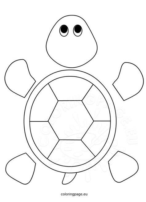 turtle template  preschool coloring page