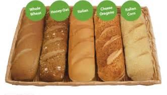 Subway Bread Types