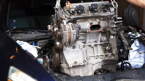 honda accord   engine swap removal ja