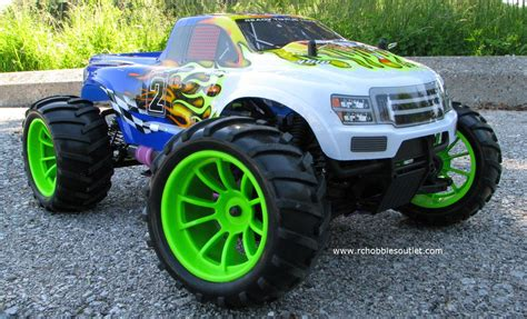 nitro rc monster trucks rc nitro gas monster truck hsp 1 10 4wd rtr 2 4g 88038
