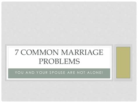 common marriage 7 common marriage problems