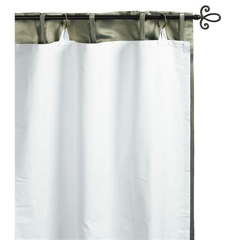 commonwealth home fashions blackout curtain liner 50x58