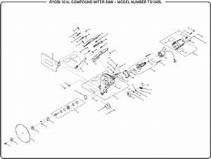 Ryobi Ts1345l 10 U0026quot  Compound Miter Saw Parts And Accessories