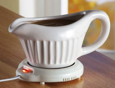Gravy Boat With Electric Warmer by Collections Etc Unique Gifts Home And Garden Decor And