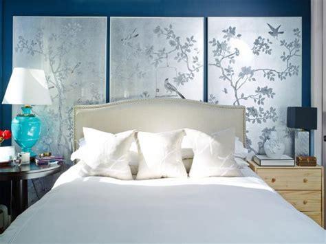 hand painted wallpaper panels  bedroom hgtv